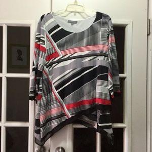 Ladies multicolored striped tunic!!
